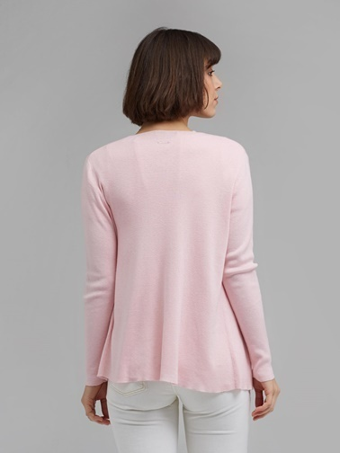 Silk and Cashmere Bluz Pembe